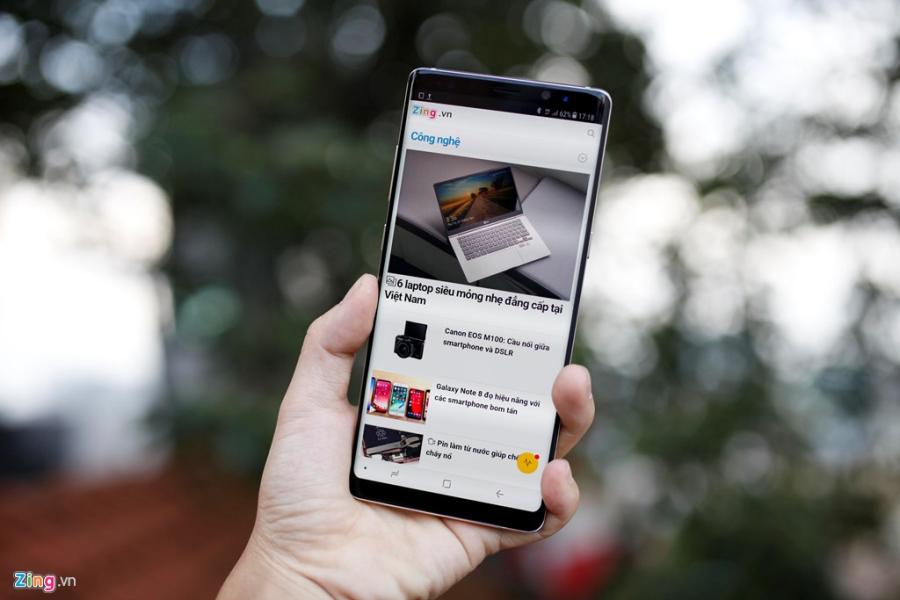 Ngay khi về nước, Samsung Galaxy Note 8 đã loạn giá trên thị trường xách tay.