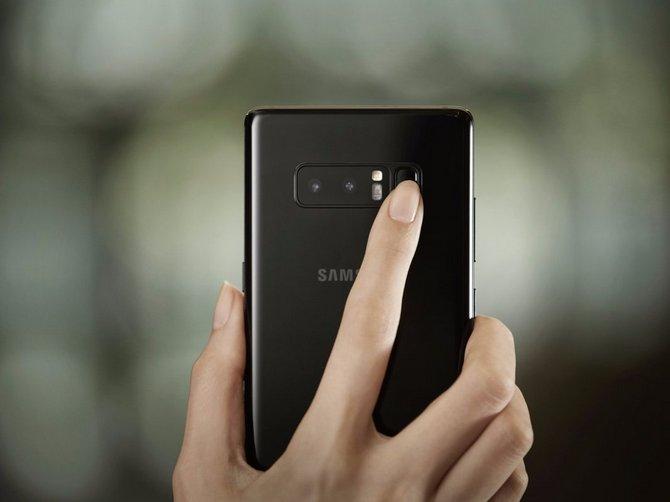 Cảm biến dấu vân tay ở mặt sau Galaxy Note 8.